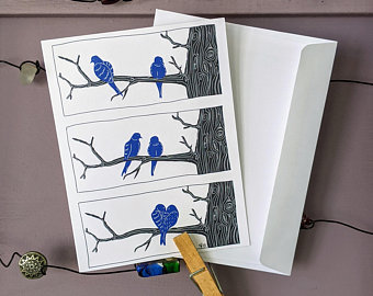 Mourning Doves — Greeting Card