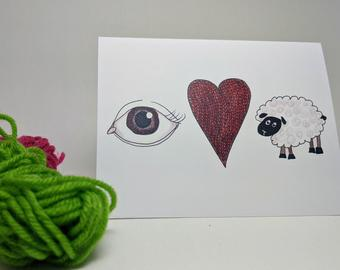 Eye Love Ewe – Greeting Card
